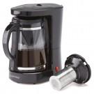 Cafetiera Albatros Dolce 2 in 1, 680 W, 1.2 l, capacitate 10 cesti, infuzor pentru ceai, functie antipicurare, negru