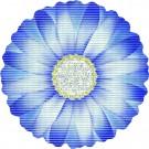 Covoras baie Friedola Cicoare 23080, forma floare, albastru, 67 cm