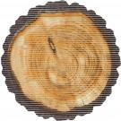 Covoras baie Friedola Trunchi 23081, model trunchi copac, maro, 67 cm