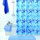 Perdea dus Iobagno Netty, model stele de mare, albastru, 180 x 200 cm