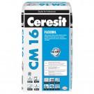 Adeziv flexibil pentru gresie si faianta Ceresit CM 16, interior / exterior, gri, 25 kg