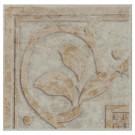 Bordura ceramica pentru colt, Nogal, bej, lucioasa, patrata, 15 x 15 cm