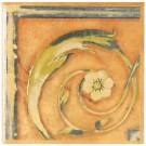 Bordura ceramica pentru colt, Florencia, maro, mata, patrata, 15 x 15 cm