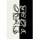Covor living / dormitor Oriental Weavers Trance Marcelo K 512/F35 polipropilena dreptunghiular negru + alb 60 x 110 cm