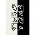 Covor living / dormitor Oriental Weavers Trance Marcelo K 512/F35 polipropilena dreptunghiular negru + alb 80 x 140 cm