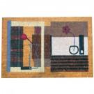 Covor intrare interior Kokos, cocos, diverse culori, dreptunghiulara, 74 x 45 cm