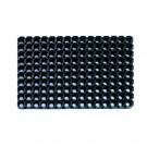Covor intrare exterior Domino 350, cauciuc, negru, dreptunghiulara, 60 x 40 cm