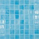 Mozaic din sticla 501, mix albastru + turquoise, interior / exterior, 31.7 x 31.7 cm