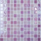 Mozaic din sticla 404, mov, interior / exterior, 31.7 x 31.7 cm