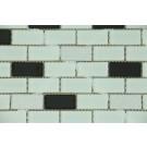 Mozaic din sticla 2550-02 mix negru+alb+argintiu 30x30 cm