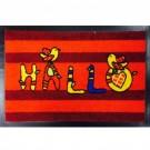 Covor intrare exterior Hallo, fir nylon cu suport  PVC, rosu, dreptunghiulara, 60 x 40 cm