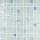 Mozaic din sticla 111/754, mix albastru, interior / exterior, 31.7 x 31.7 cm