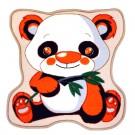 Covoras camera copii Davo Pro Panda nylon patrat multicolor 65 x 65 cm