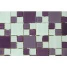 Mozaic din sticla Mx-09 mix mov+violet+alb+argintiu 30x30 cm
