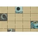 Mozaic din sticla Ceranova, RD-5050-13, mix bej + maro, interior, 30 x 30 cm