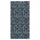 Faianta baie mozaic Trend neagra lucioasa 25 x 50 cm