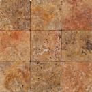Travertin Mesta Mistique Tumbled maro auriu 1 x 10 x 10 cm