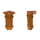 Colt interior pentru plinta Set 10456-6006 doussie 52 x 22 mm 4 buc/set