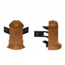 Colt exterior pentru plinta SET 10456-6006 doussie 52 x 22 mm 2 buc/set