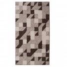 Covor living / dormitor McThree Casin 8072 8S15 polipropilena frize, heat-set dreptunghiular crem 120 x 170 cm