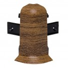 Colt exterior pentru plinta SET 10456-6011 nuc walnut 52 x 60 mm 2 buc/set