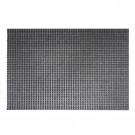 Covor intrare exterior Queens 402, polietilena, gri, dreptunghiular, 60 x 40 cm