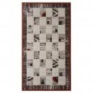 Covor living / dormitor Carpeta Delta 81731-43232 polipropilena heat-set dreptunghiular bej 60 x 110 cm