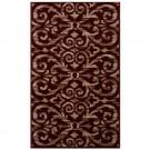 Covor living / dormitor Carpeta Atlas 85271-41355 polipropilena heat-set dreptunghiular bordo 160 x 230 cm