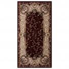 Covor living / dormitor Carpeta Atlas 30241-41355 polipropilena heat-set dreptunghiular bordo 60 x 110 cm