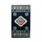 Covor living / dormitor oriental Weavers Sonic B 560/IA polipropilena heat-set dreptunghiular albastru 120 x 170 cm