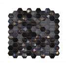 Mozaic din sticla Forest mix negru + gri, interior / exterior, 30.7 x 31.7 cm