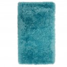 Covor living / dormitor Wuhan Chip Shaggy 6 poliester dreptunghiular albastru turcoaz 140 x 200 cm
