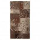 Covor living / dormitor Carpeta Delta 87031-43255 polipropilena heat-set dreptunghiular bej 60 x 110 cm