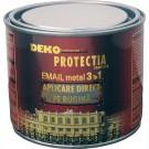 Vopsea alchidica pentru metal 3 in 1 Deko Proffesional, interior / exterior, neagra, 0.5 L