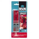 Adeziv bicomponent universal, Bison Epoxy, intarire rapida, transparent, 24 ml