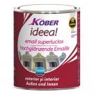 Vopsea alchidica pentru lemn / metal, Kober Ideea, interior / exterior, alba, 0.75 L