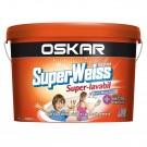 Vopsea superlavabila interior Oskar Superweiss alb 15L
