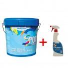 Vopsea lavabila interior Spor antimucegai, baie si bucatarie, alb, 8.5 L + solutie Polisept 0.5 L