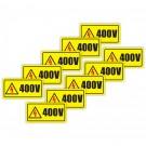 Indicator avertizare 400 V Creative sign, pvc, forma dreptunghiulara, 10 x 5 cm, set 10 bucati