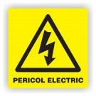 Indicator avertizare inalta tensiune Creative sign, pvc, forma patrata, 15 x 15 cm