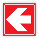 Indicator directii de urmat Creative sign, pvc, forma patrata, 15 x 15 cm