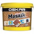 Tencuiala decorativa acrilica, interior / exterior, Oskar Mosaik 9703, mozaicata, 25 kg