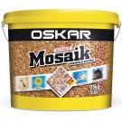 Tencuiala decorativa acrilica, interior / exterior, Oskar Mosaik 9720, mozaicata, 25 kg