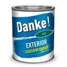 Vopsea alchidica pentru lemn / metal, Danke, exterior, verde inchis, 2.5 L