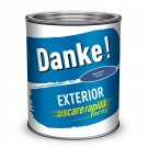 Vopsea alchidica pentru lemn / metal, Danke, exterior, albastra, 0.75 L