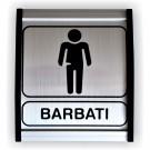 Indicator toaleta barbati Creative sign, aluminiu, forma dreptunghiulara, 12 x 10 cm