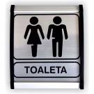 Indicator toaleta mixta Creative sign, aluminiu, forma dreptunghiulara, 12 x 10 cm