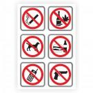 Indicator semnalizare interdictie Creative sign, autocolant, forma dreptunghiulara, 30 x 20 cm, set 6 indicatoare