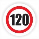 Indicator semnalizare limitare viteza 120 Creative sign, autocolant, forma rotunda, diametru 12 cm