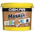 Tencuiala decorativa acrilica, interior / exterior, Oskar Mosaik 9702, mozaicata, 25 kg